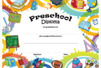 Free Printable Preschool Diplomas | Preschool Classroom throughout Classroom Certificates Templates
