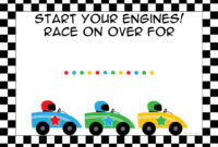 Free Printable Race Car Birthday Party Invitations – Updated regarding Cars Birthday Banner Template