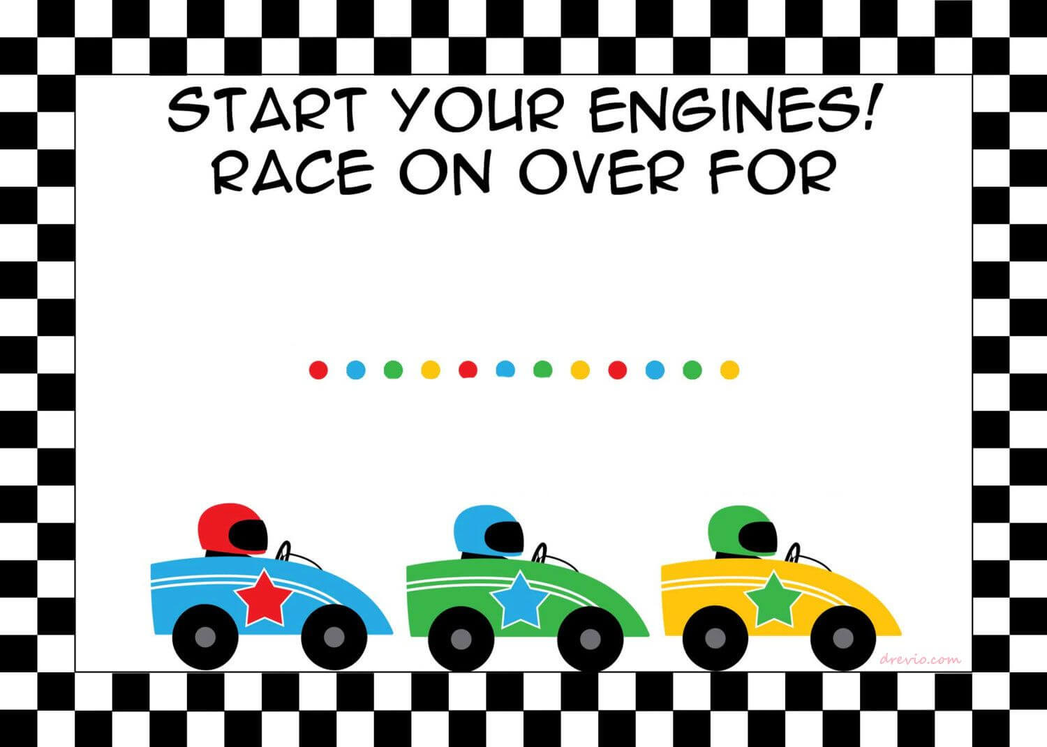 Free Printable Race Car Birthday Party Invitations - Updated regarding Cars Birthday Banner Template