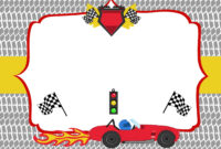 Free Printable Race Car Birthday Party Invitations – Updated with Blank Race Car Templates