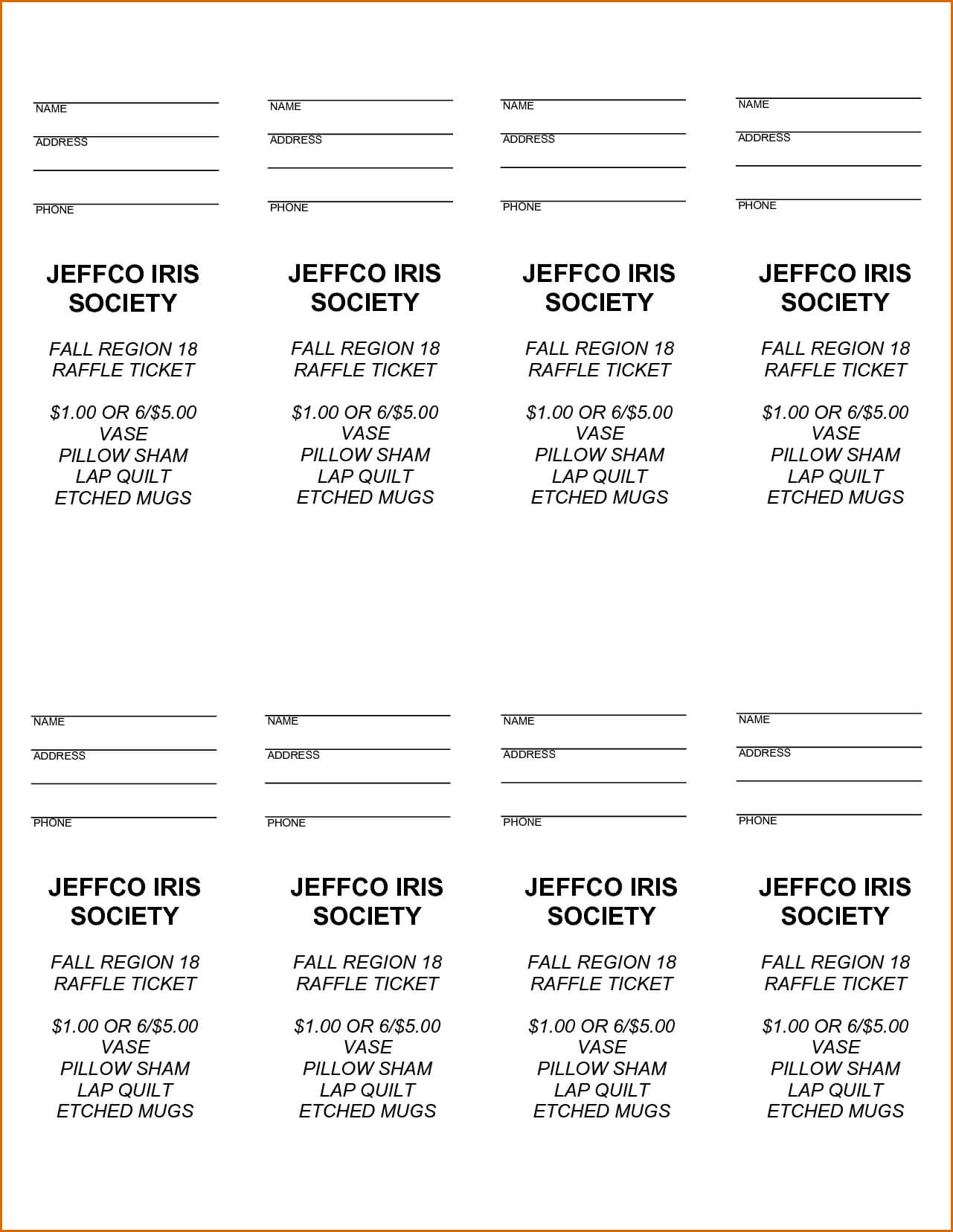 Free Printable Raffle Tickets - Free Printable Raffle Ticket Intended For Free Raffle Ticket Template For Word