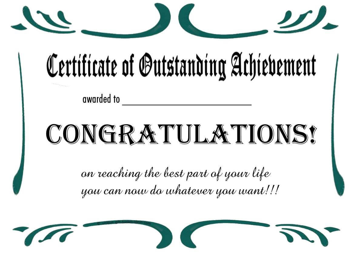 Free Printable Retirement Certificate | Retirement | Free Inside Retirement Certificate Template