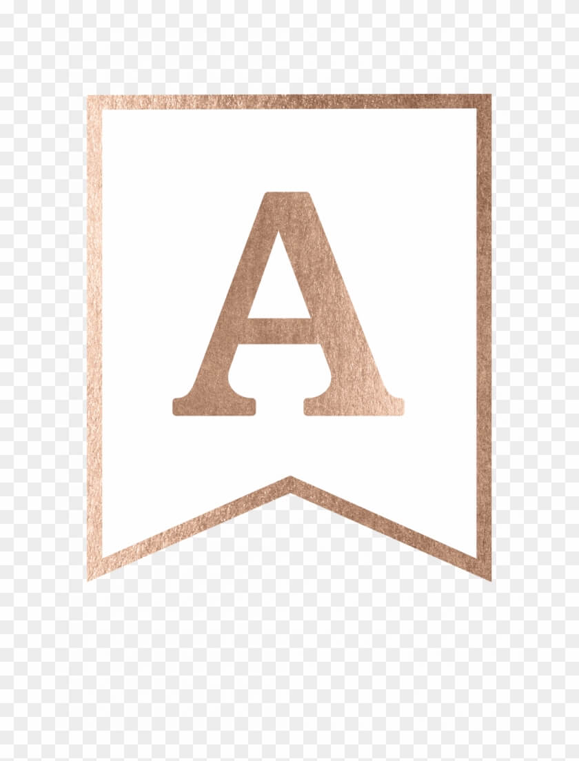 Free Printable Rose Gold Banner Template – Triangle, Hd Png For Printable Banners Templates Free