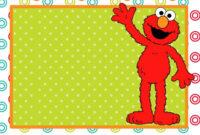 Free Printable Sesame Street 1St Birthday Invitations regarding Elmo Birthday Card Template