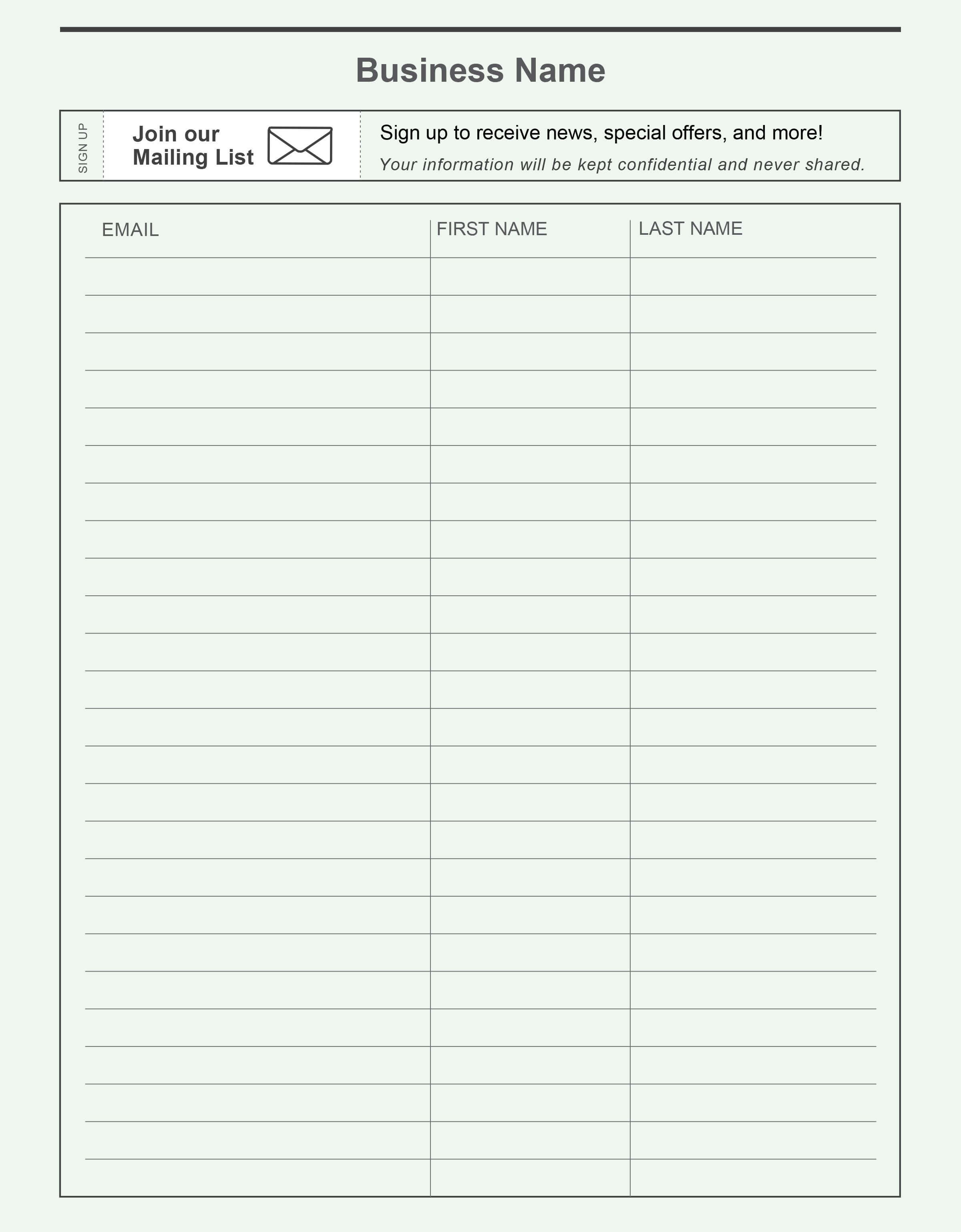 Free Printable Sign Up Sheet Template Word Visitor In regarding Free Sign Up Sheet Template Word
