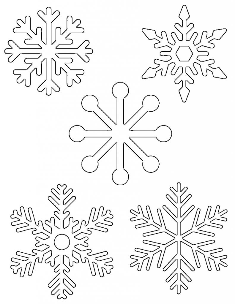 Free Printable Snowflake Templates – Large & Small Stencil In Blank Snowflake Template