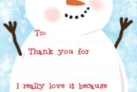 Free Printable Snowman Christmas Thank You Letters – Wink Design pertaining to Christmas Thank You Card Templates Free
