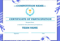 Free Printable Soccer Certificate Four Sports Awards for Athletic Certificate Template
