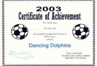 Free Printable Soccer Certificate Templates Editable Kiddo pertaining to Soccer Certificate Template