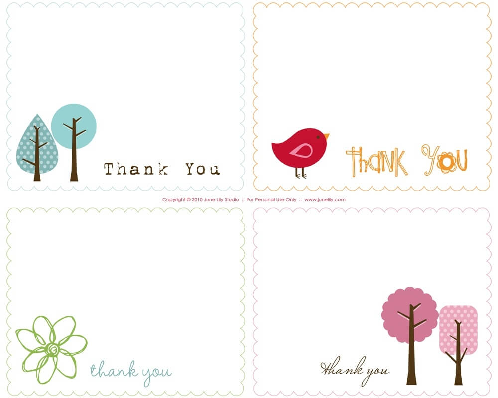 Free Printable Thank You Card Template | Website Templates pertaining to Free Printable Thank You Card Template