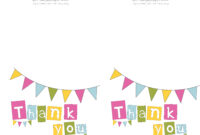 Free Printable Thank You Cards | Bake Sale Flyers – Free within Free Printable Thank You Card Template