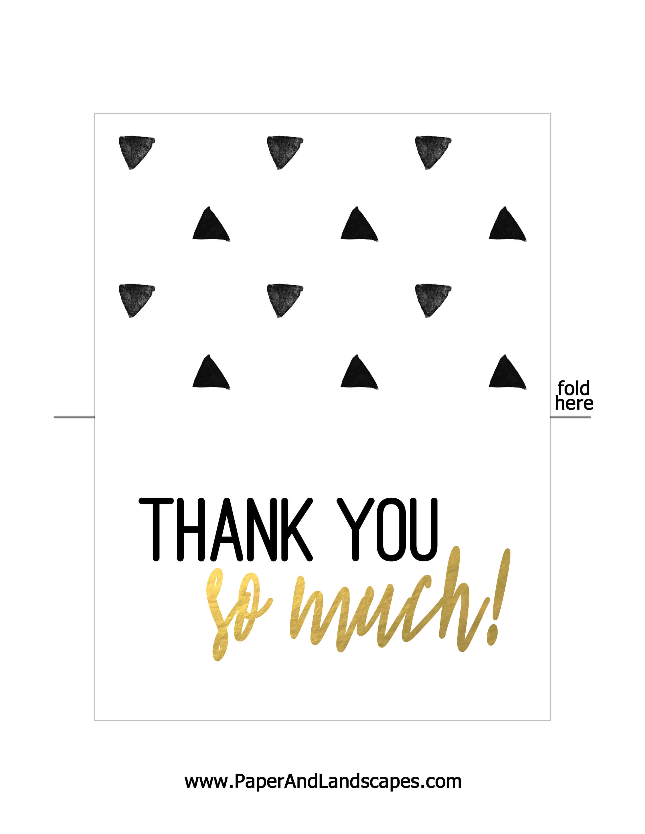 Free Printable Thank You Cards - Paper And Landscapes intended for Free Printable Thank You Card Template