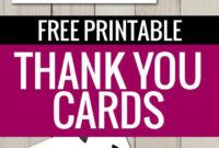 Free Printable Thank You Cards | Printable Thank You Cards for Free Printable Thank You Card Template