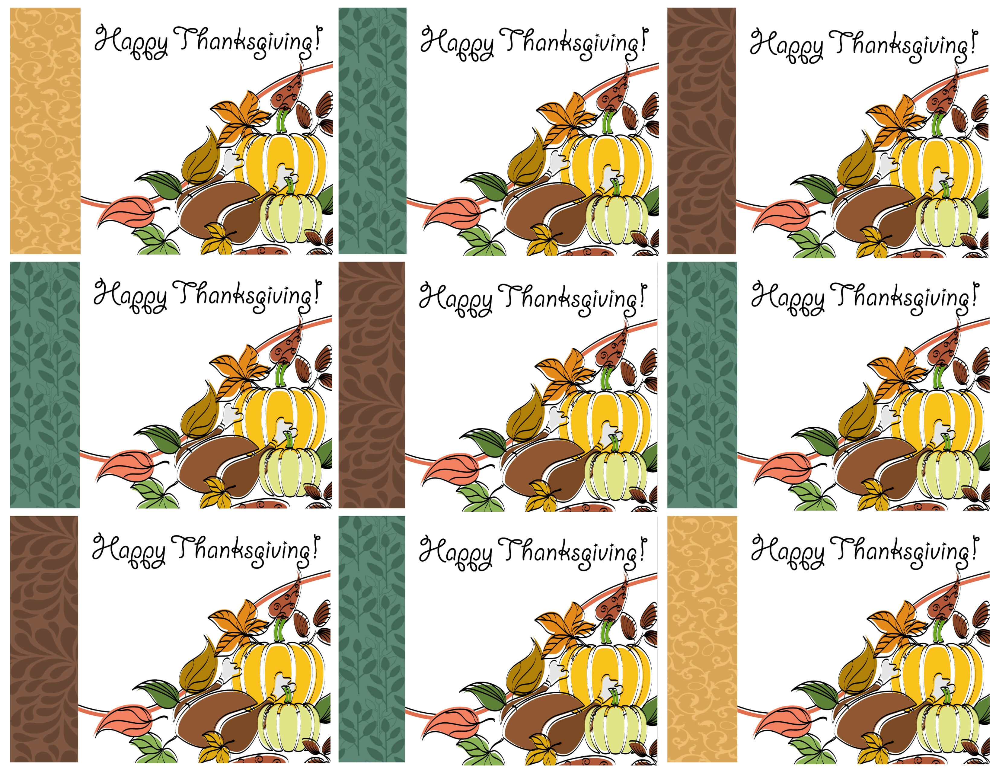Free Printable Thanksgiving Place Cards -- Also Great For with regard to Thanksgiving Place Cards Template