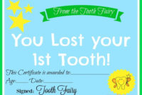 Free Printable Tooth Fairy Certificate | 40 | Tooth Fairy inside Free Tooth Fairy Certificate Template