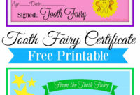 Free Printable Tooth Fairy Certificate | Tooth Fairy with regard to Free Tooth Fairy Certificate Template