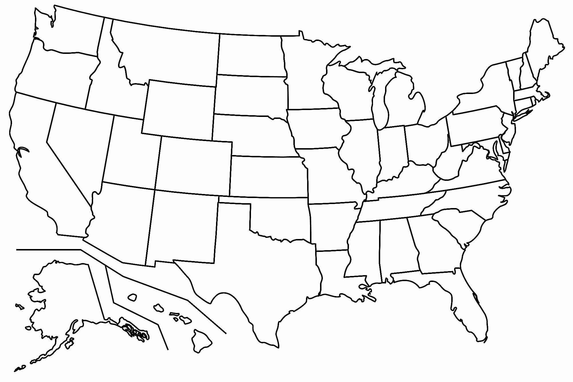 Free Printable Us Map Blank Blank Us Map Printable My Blog within United States Map Template Blank