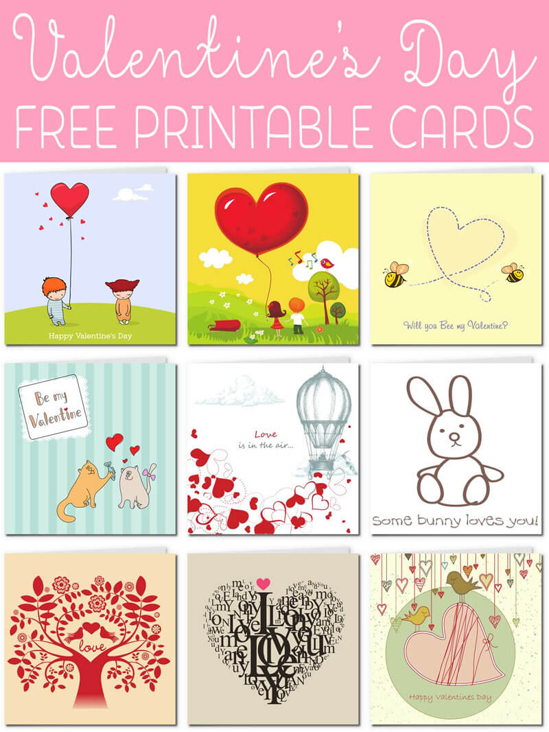 Free Printable Valentine Cards Within Valentine Card within Valentine Card Template For Kids