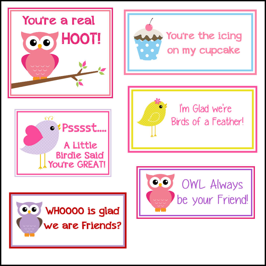 Free Printable Valentine's Cards (A Lot Of Them | Diy Owl With Regard To Valentine Card Template For Kids