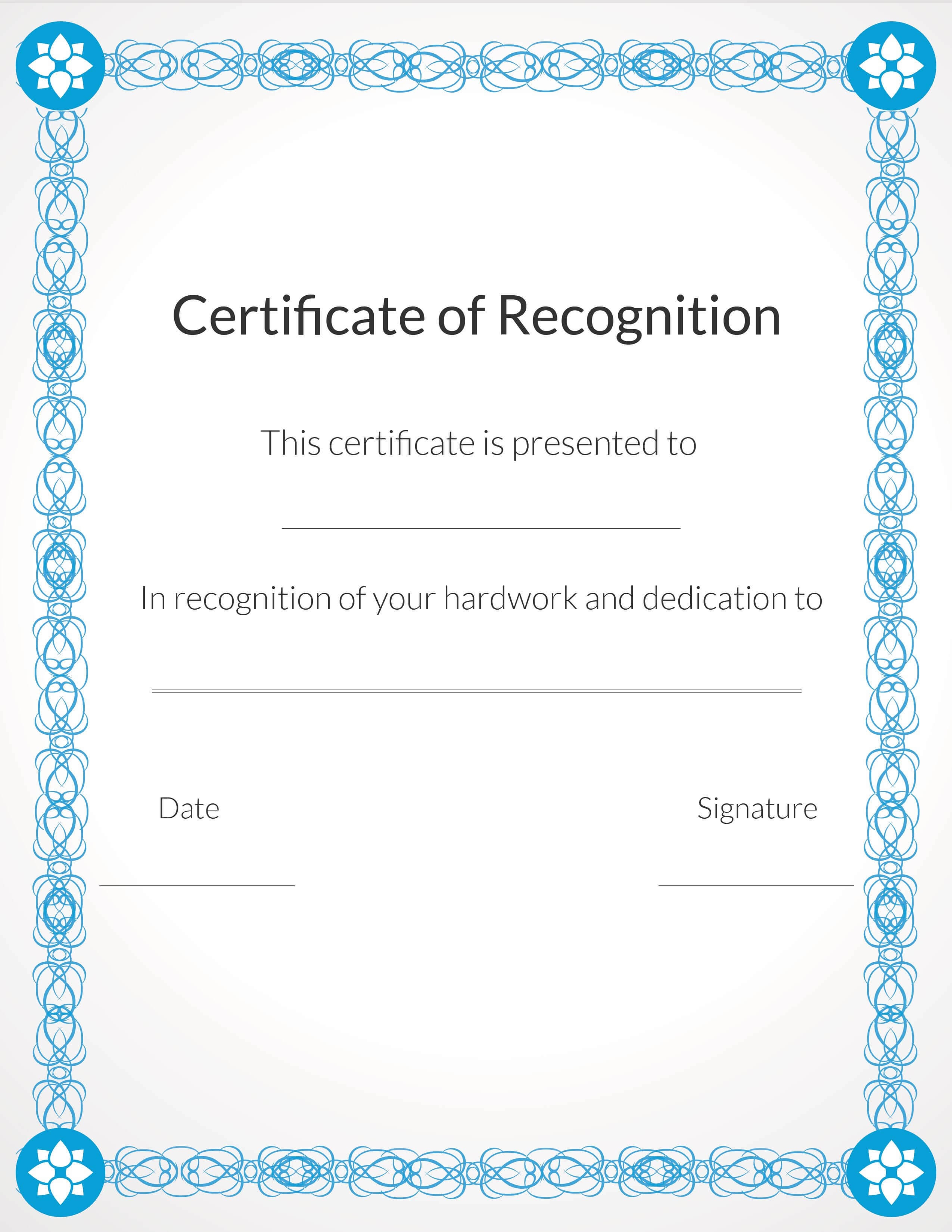 Free, Printable Volunteer Recognition And Appreciation With Volunteer Award Certificate Template