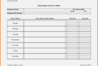 Free Printable Weekly Employee Time Sheets Daily Timesheet within Daily Report Sheet Template