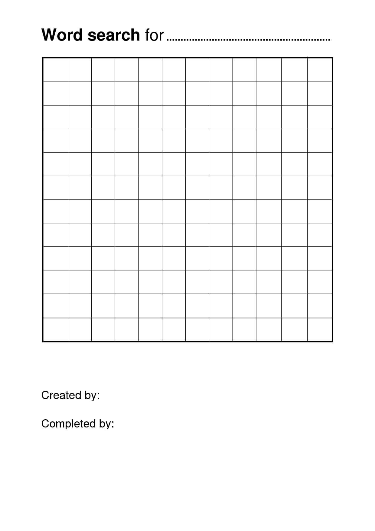 Free Printable Word Search Puzzle Templates | Pisanie | Free Regarding Blank Word Search Template Free