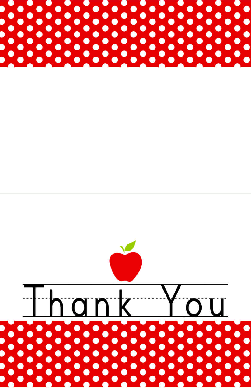 Free Printableend Of The Year Thank You Cards And Tags throughout Thank You Card For Teacher Template