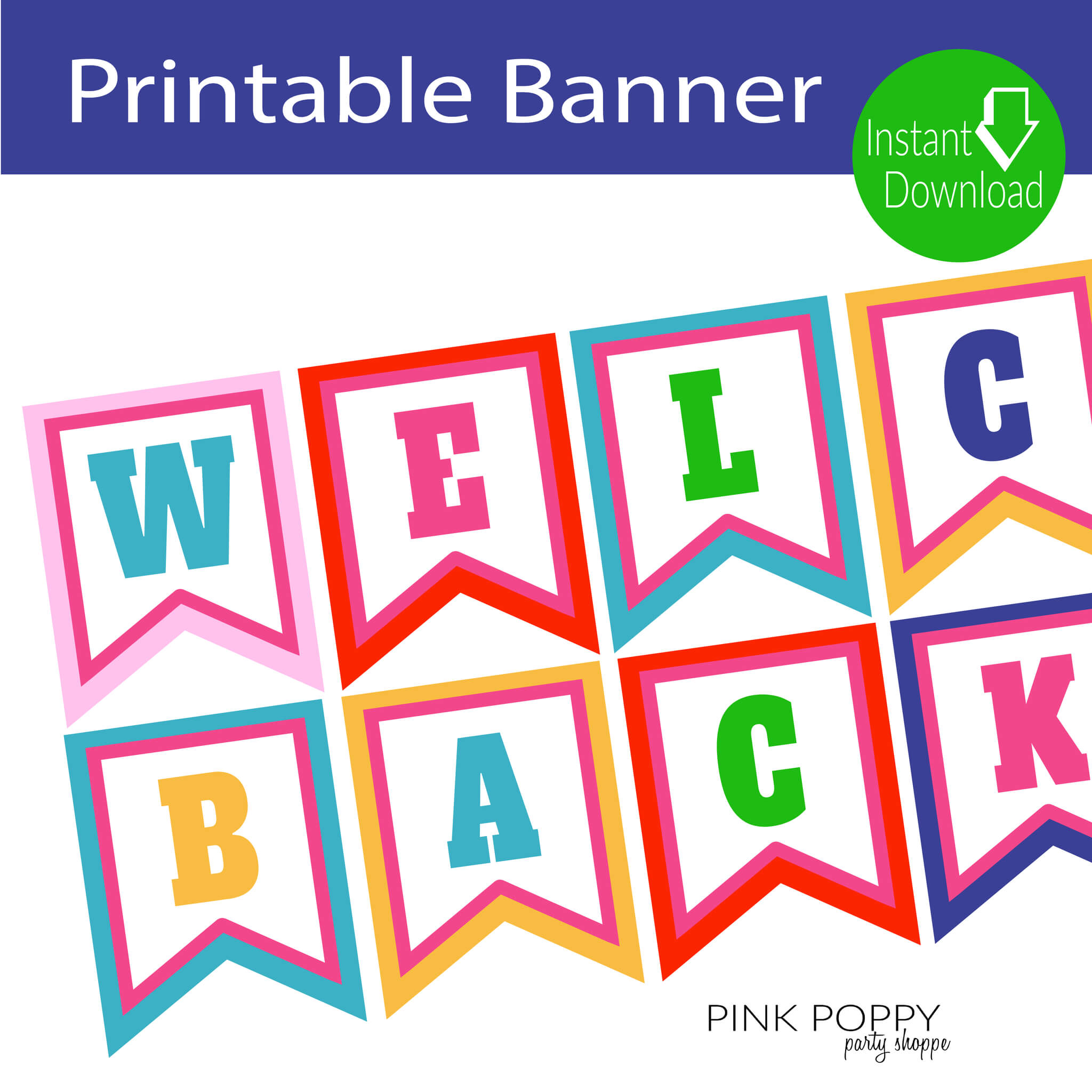 Free Printables} Welcome Back Banner | Welcome Back Banner inside Welcome Banner Template