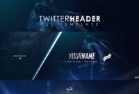 Free Professional Gaming Twitter Header Psd Template 2017 regarding Twitter Banner Template Psd