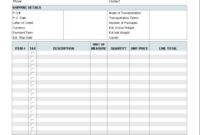 Free Proforma Invoice Template – Download throughout Free Proforma Invoice Template Word