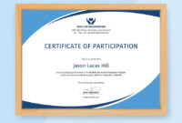 Free Program Participation Certificate | Certificate Of within Conference Participation Certificate Template