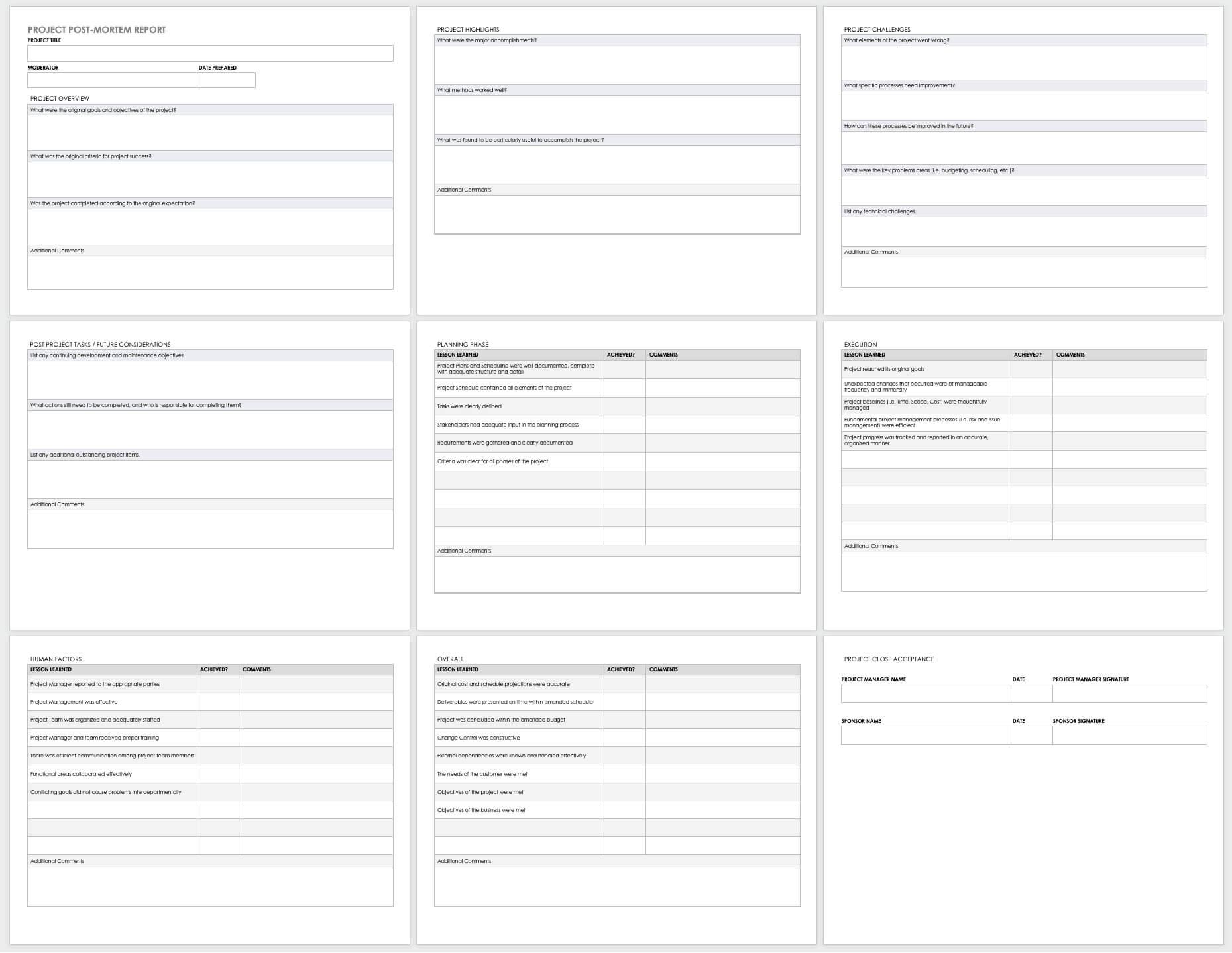 Free Project Report Templates | Smartsheet regarding Post Mortem Template Powerpoint