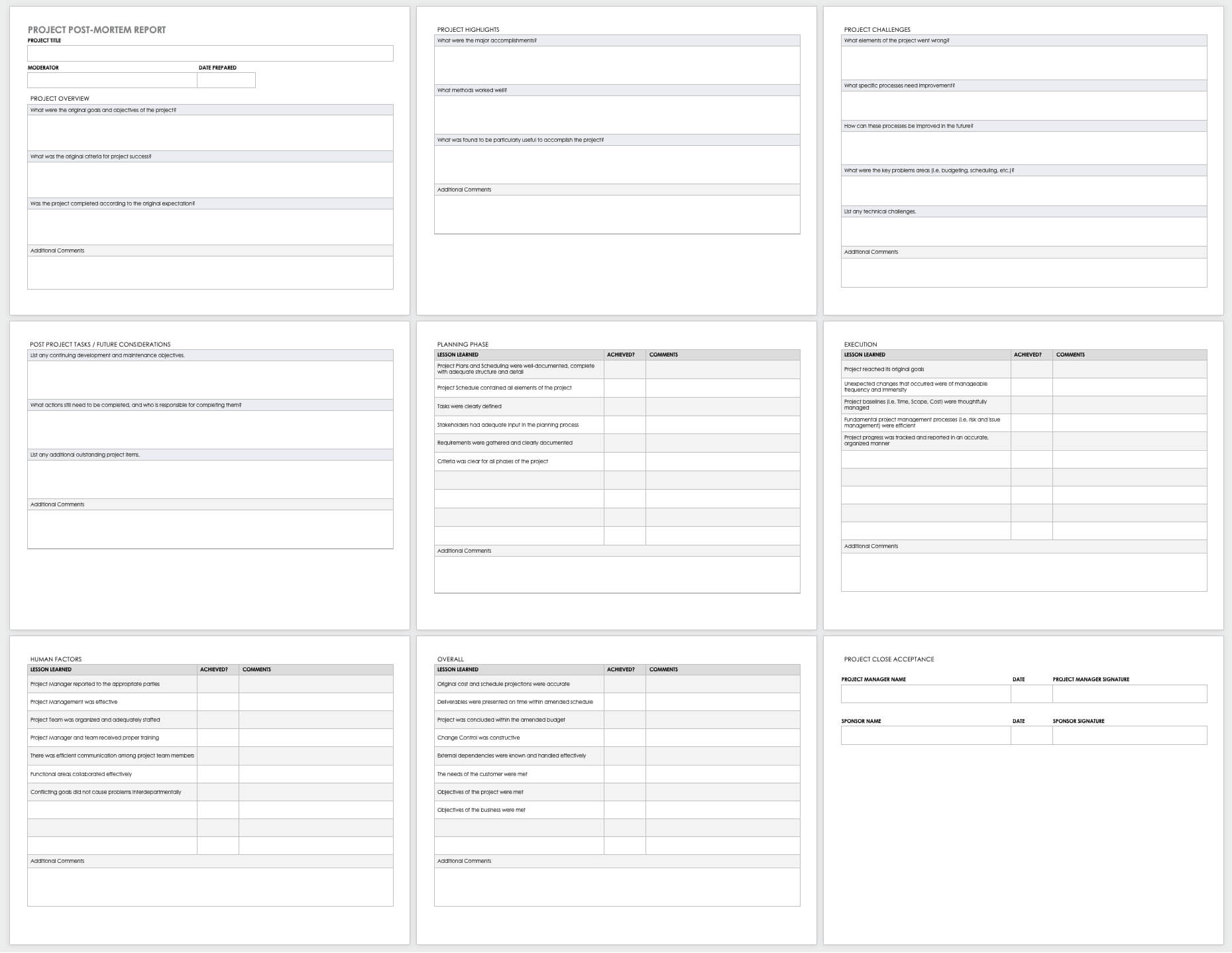 Free Project Report Templates | Smartsheet Throughout Software Problem Report Template
