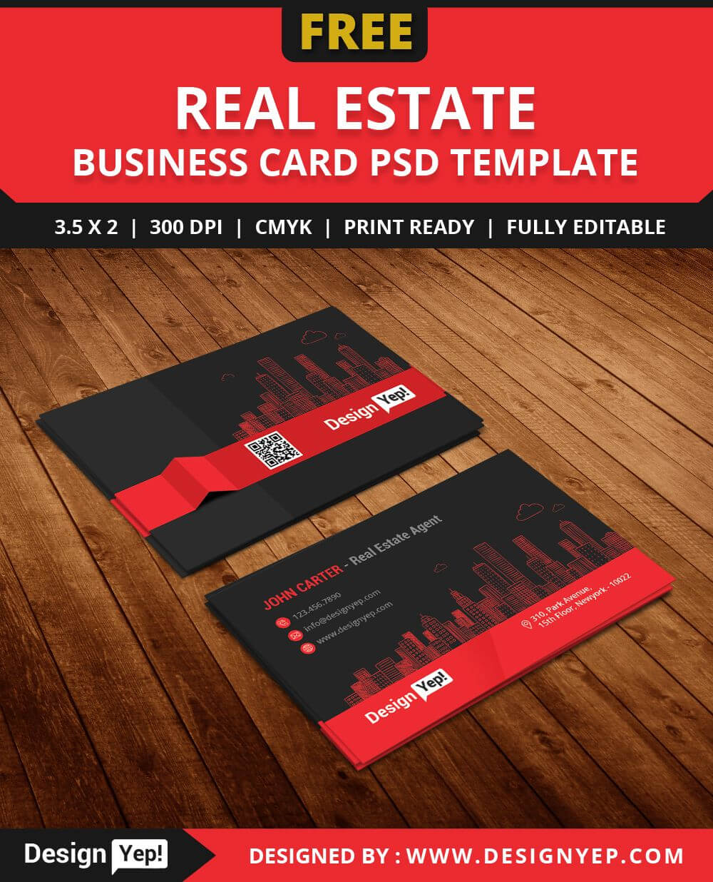 Free Real Estate Agent Business Card Template Psd | Business Pertaining To Real Estate Business Cards Templates Free