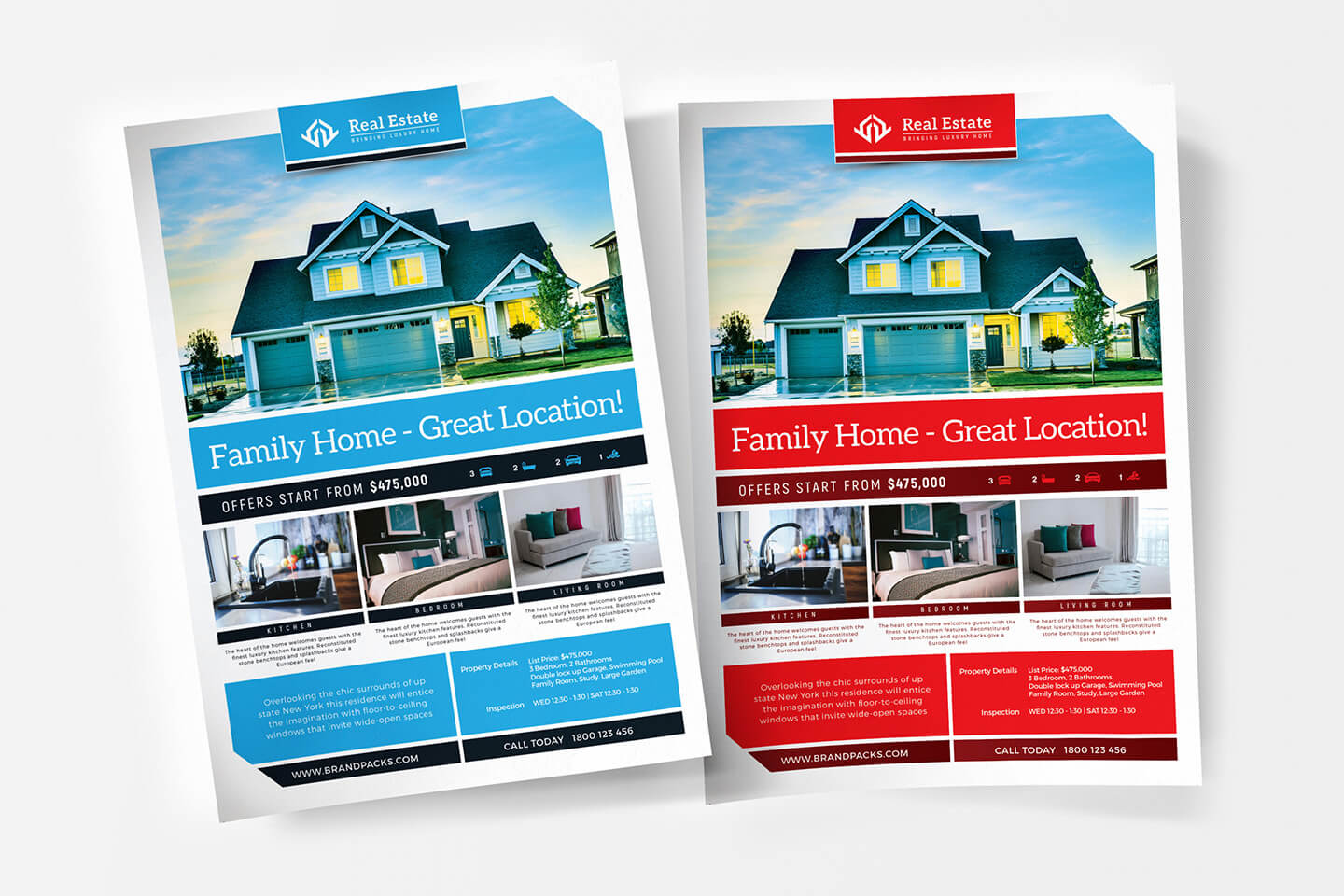 Free Real Estate Templates For Photoshop & Illustrator throughout Real Estate Brochure Templates Psd Free Download