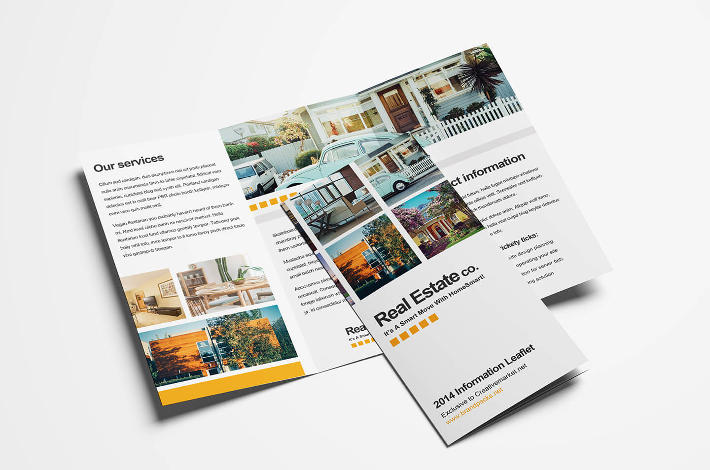 Free Real Estate Trifold Brochure Template In Psd, Ai intended for Single Page Brochure Templates Psd
