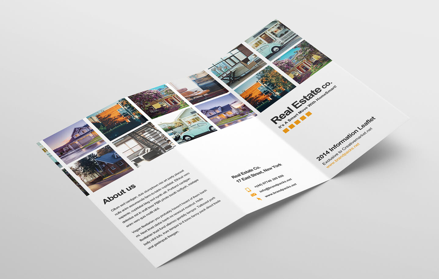 Free Real Estate Trifold Brochure Template In Psd, Ai regarding Real Estate Brochure Templates Psd Free Download