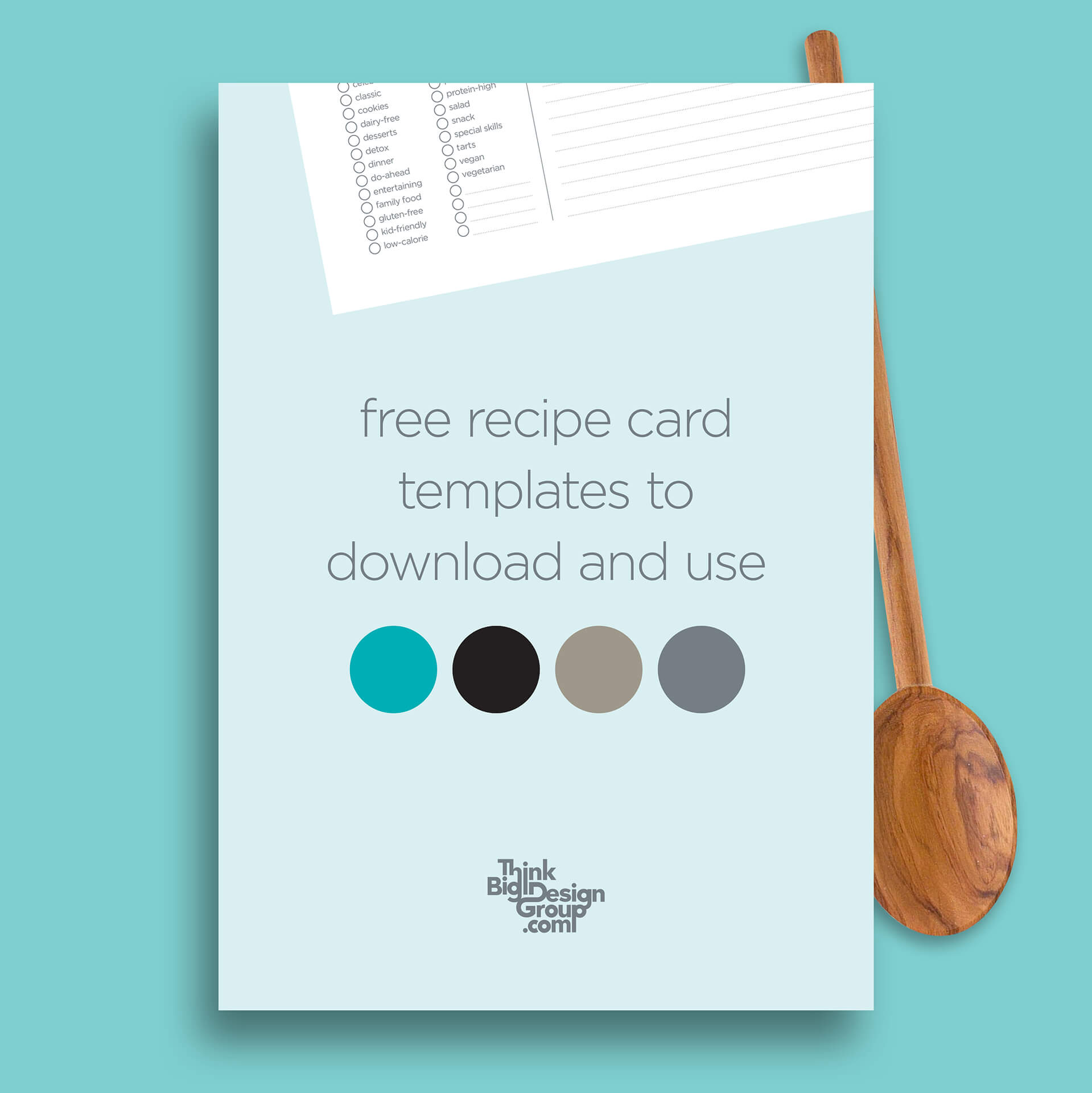 Free Recipe Card Templates with Recipe Card Design Template