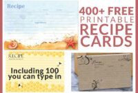 Free Recipe Cards – Cookbook People Pertaining To 4X6 Photo Card Template Free