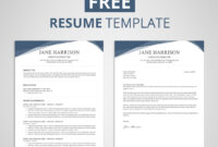 Free Resume Template In Word (7) | Budget Spreadsheet with How To Find A Resume Template On Word