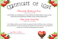 Free Romance And Valentine's Day Certificates At in Love Certificate Templates