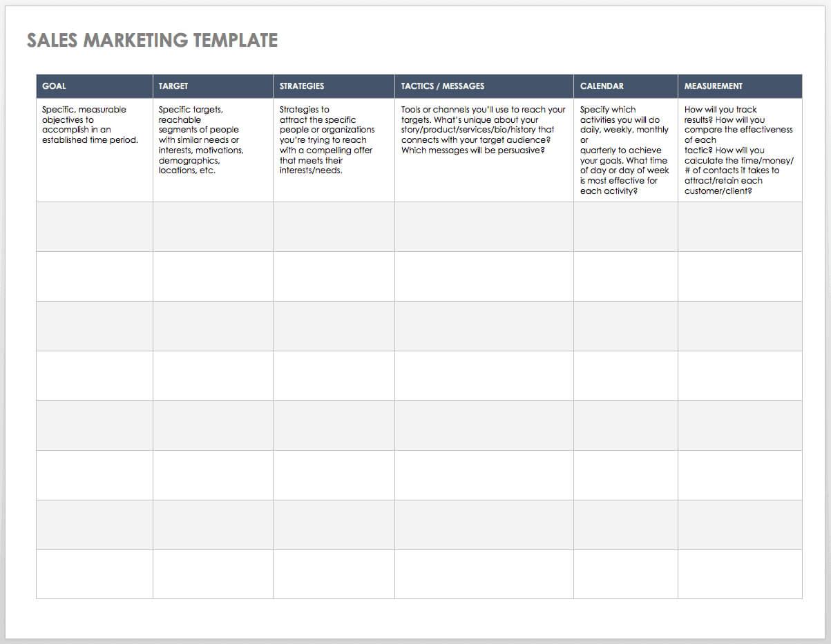 Free Sales Pipeline Templates | Smartsheet for Sales Team Report Template