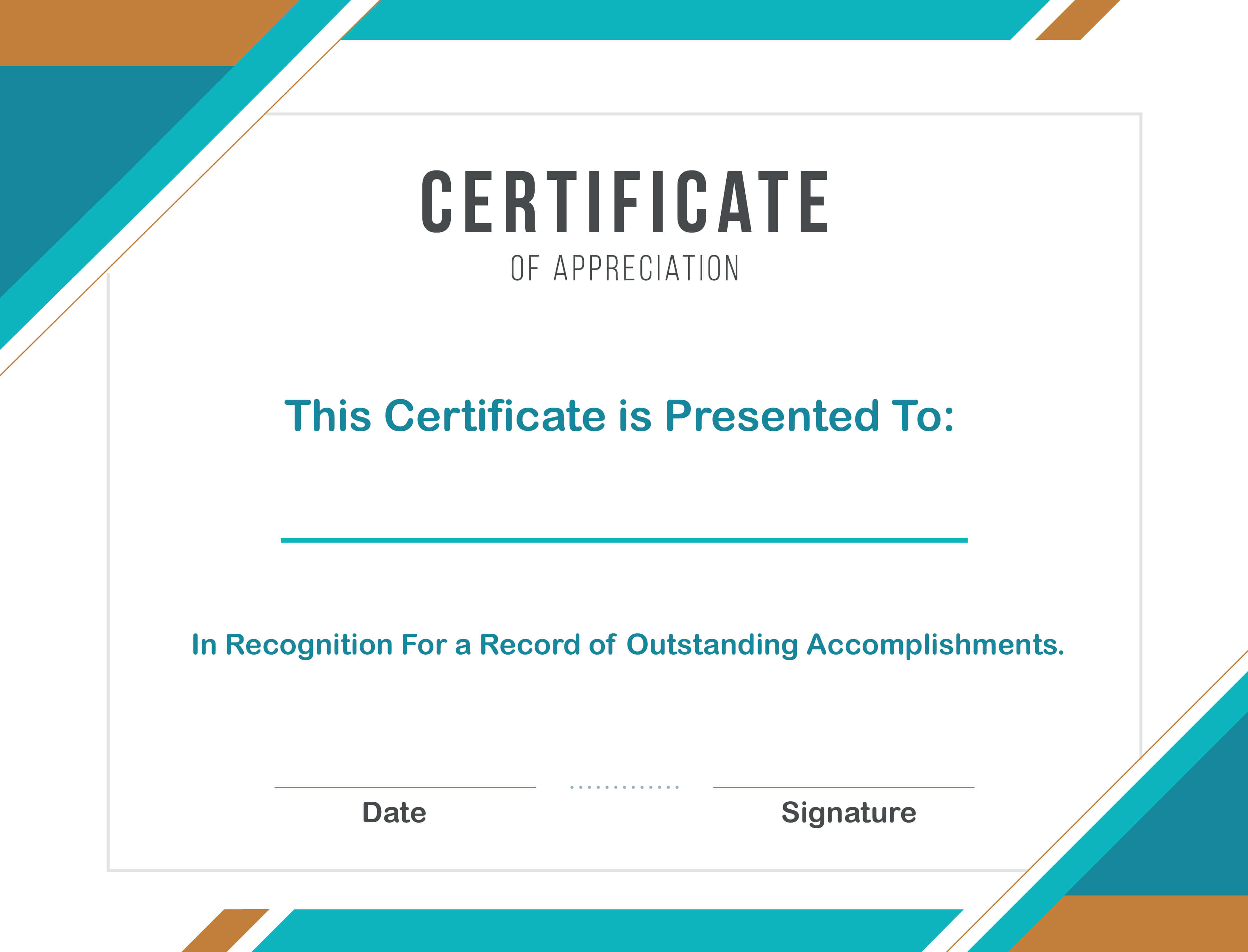 Free Sample Format Of Certificate Of Appreciation Template in In Appreciation Certificate Templates