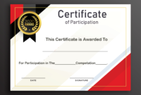 Free Sample Format Of Certificate Of Participation Template in Certificate Of Participation Word Template