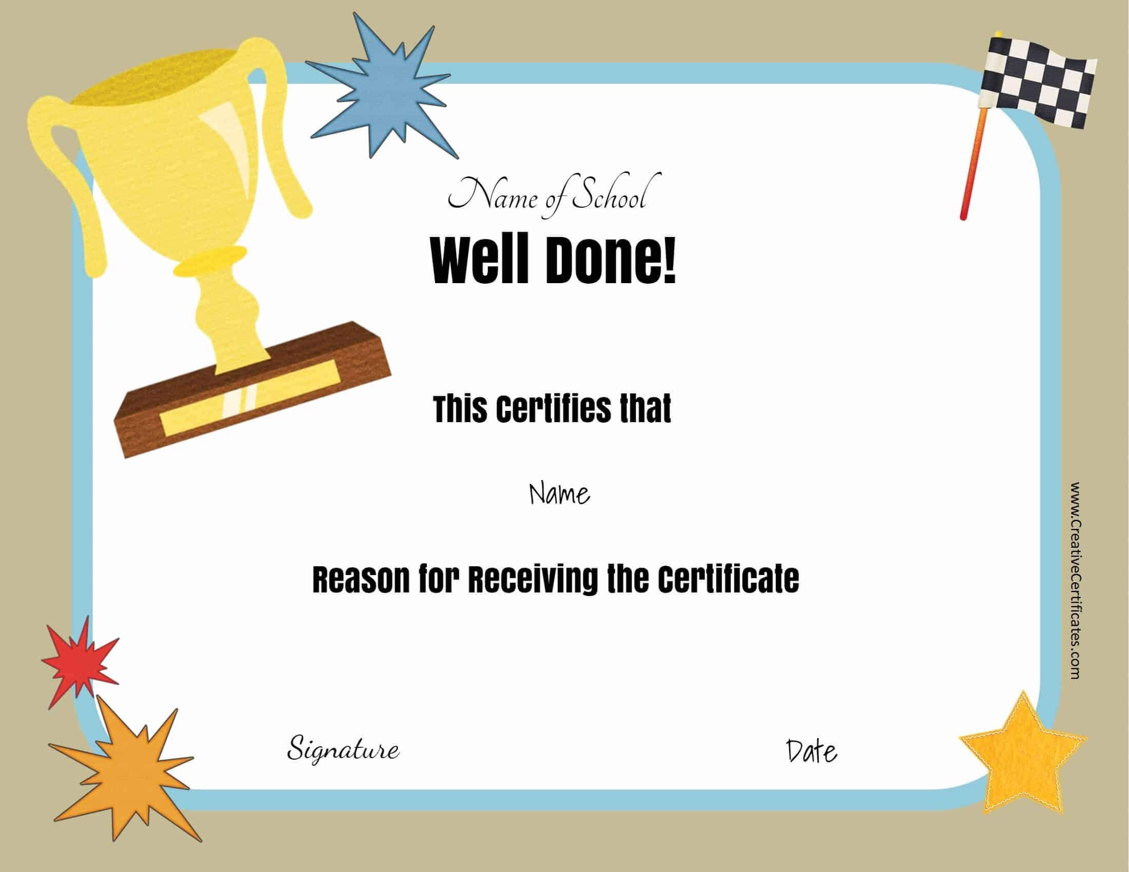 Free School Certificates & Awards throughout Free Printable Student Of The Month Certificate Templates