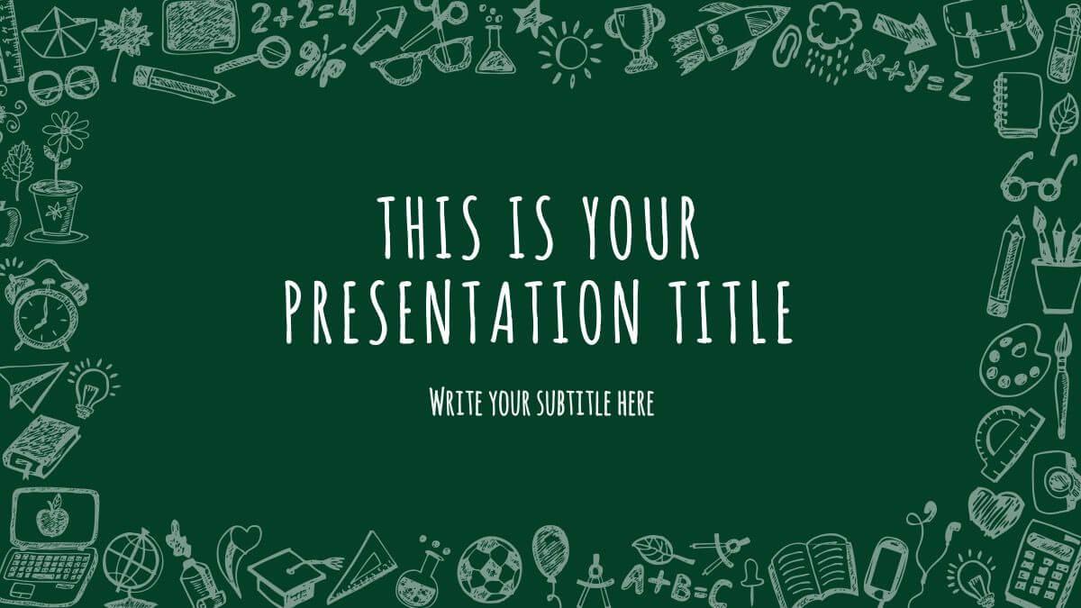 Free School Stuff Theme Powerpoint Template | Powerpoint Within Starbucks Powerpoint Template