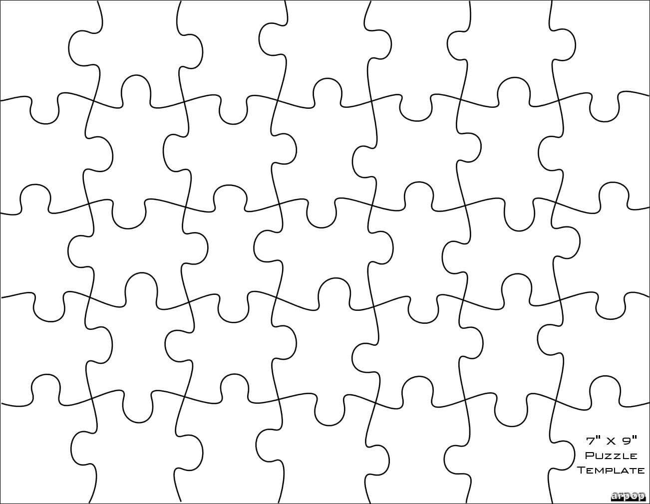 Free Scroll Saw Patternsarpop: Jigsaw Puzzle Templates For Jigsaw Puzzle Template For Word