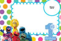 Free Sesame Street 1St Birthday Invitation Template | Sesame regarding Elmo Birthday Card Template