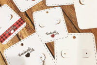 Free Silhouette Earring Card Templates (Set Of 8 inside Free Svg Card Templates