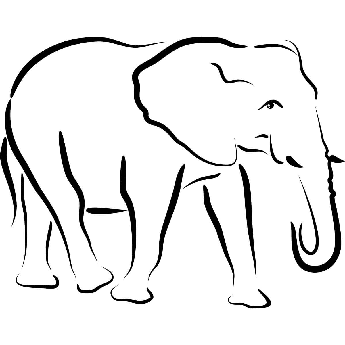 Free Simple Elephant Outline, Download Free Clip Art, Free with Blank Elephant Template